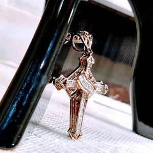 Mens Necklace  Cross Pendant